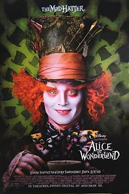 Movie Poster Featuring Depp as The Mad Hatter