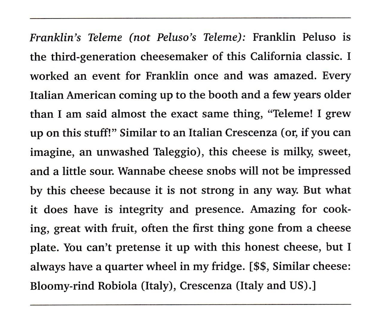 Cheesemonger p158